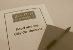 + food and the city conference at boston university +