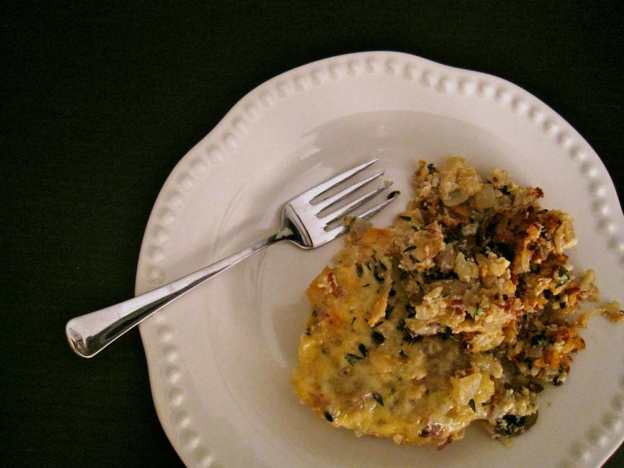 + wild rice and mushroom casserole +