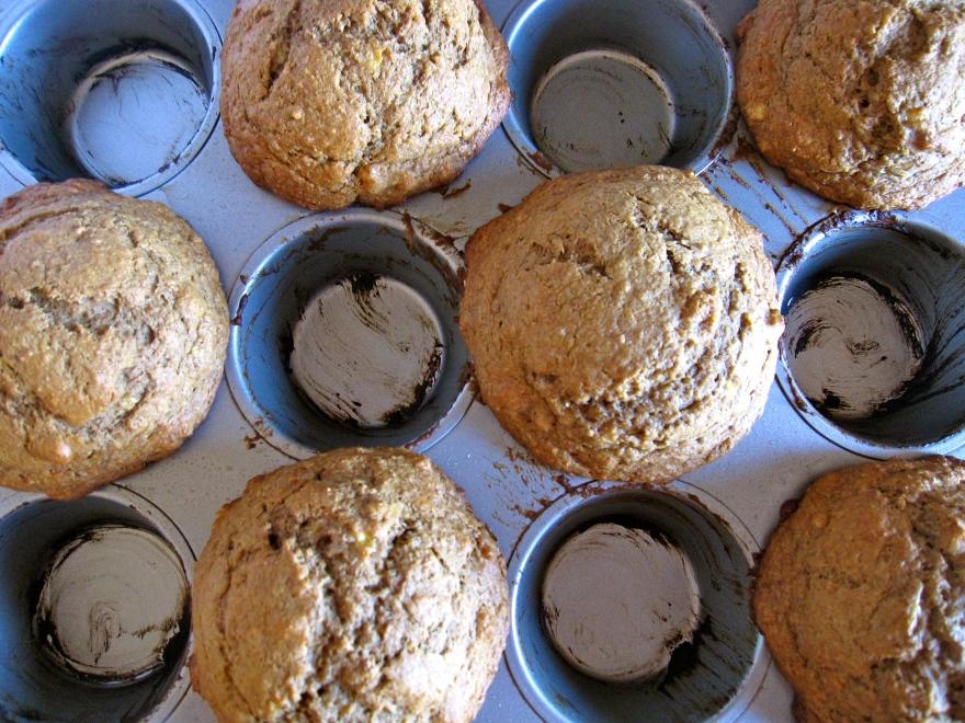 + banana cereal muffins +