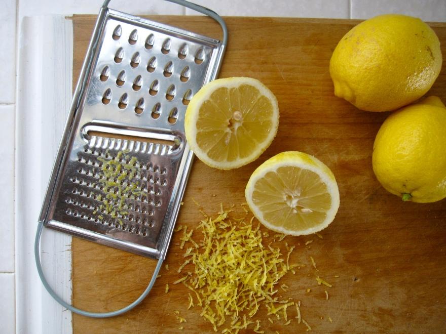 grated lemon